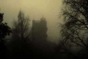 Valkhof in de mist